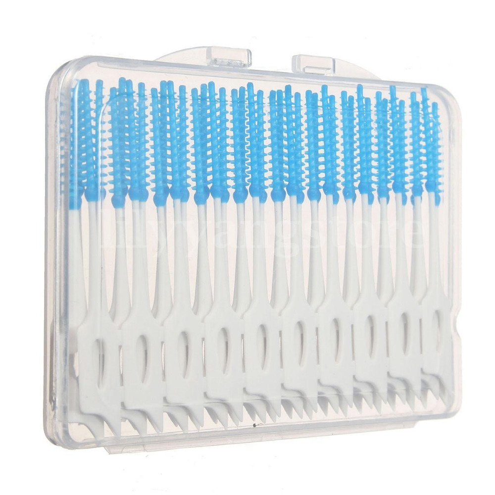 Useful 40pcs Interdental Floss Brushes Dental Teeth Oral Care Clean Cleaning Tool Hot Sale