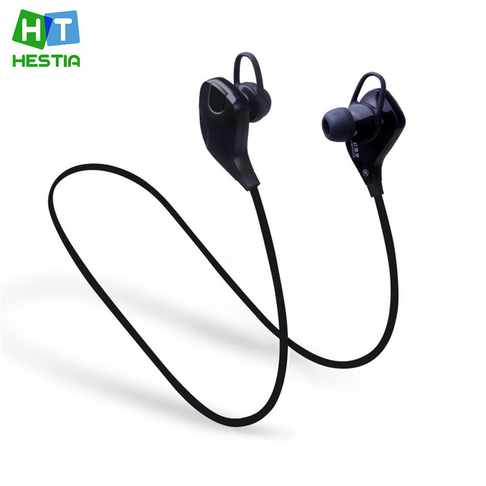 HESTIA QY7s Sport Stereo Music Bluetooth 4.1 Sweat Proof In-Ear  Earphone With Microphone Wireless Headset Handfree for iPhone hestia ex 01 bluetooth earphone car headphones with microphone auriculares wireless stereo headset audifonos for iphone 6 7 sony