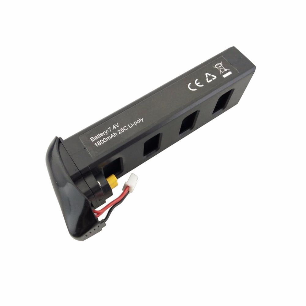 7.4 v 1800 mah lithium batterie pour MJX B2C B2W B2 Bugs 2 w Bugs 2 D80 F18 RC quadcopter pièces de rechange noir batterie