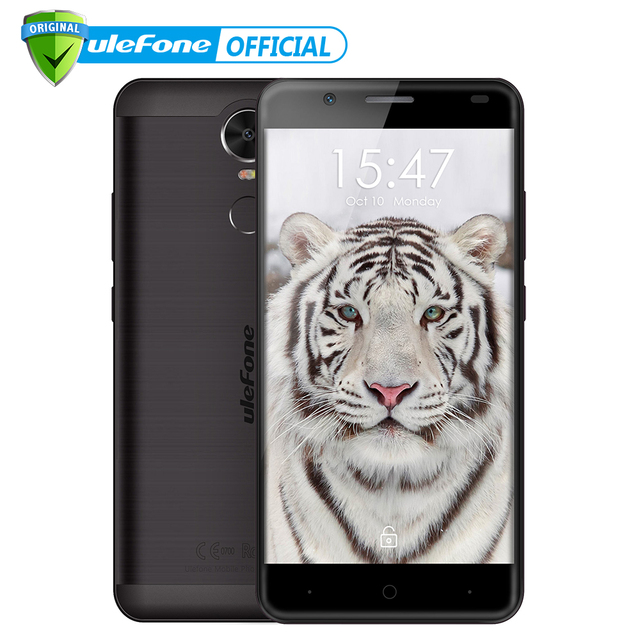 "Ulefone Tiger 4G Fingerprint ID Mobile Phone 5.5"" HD MTK6737 Quad Core Android 6.0 2GB RAM 16GB ROM 8MP Big battery Cellphone"