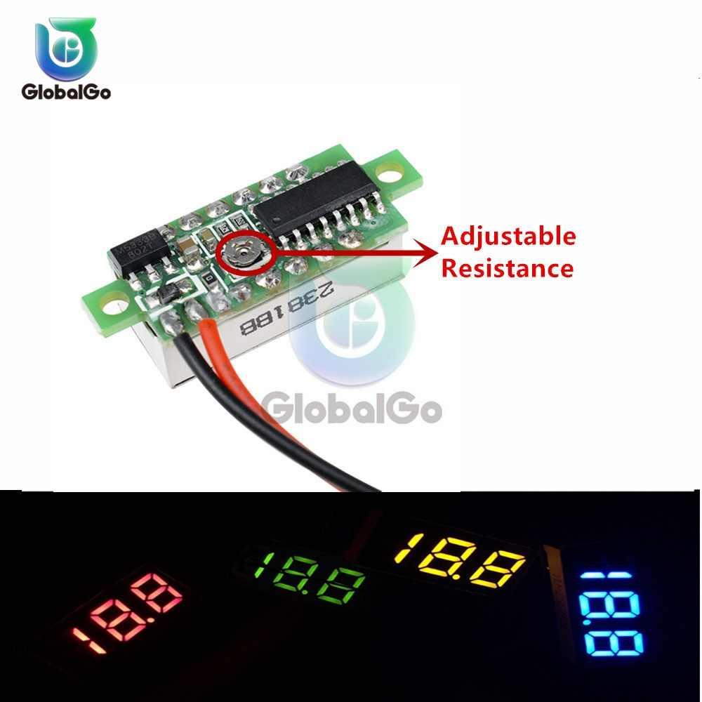 0.28 بوصة البسيطة DC 0-100 V 3-سلك مقياس الجهد متر الفولتميتر شاشة LED رقمية الرقمية عداد لوحة كاشف رصد أدوات