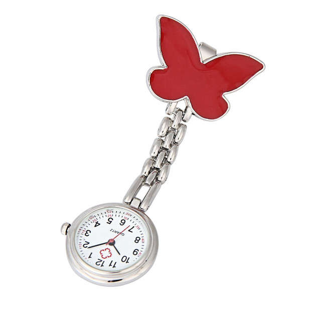 OTOKY Perfect Gift Nurse Clip-on Fob Brooch Pendant Hanging Butterfly Watch Pock