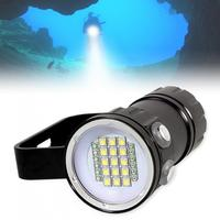 QH27 3 Modes 180W Fifteen 5050 White XML2 Six XPE Red R5 Six XPE Blue R5 LED Underwater 80m Scuba Diving Canister Light