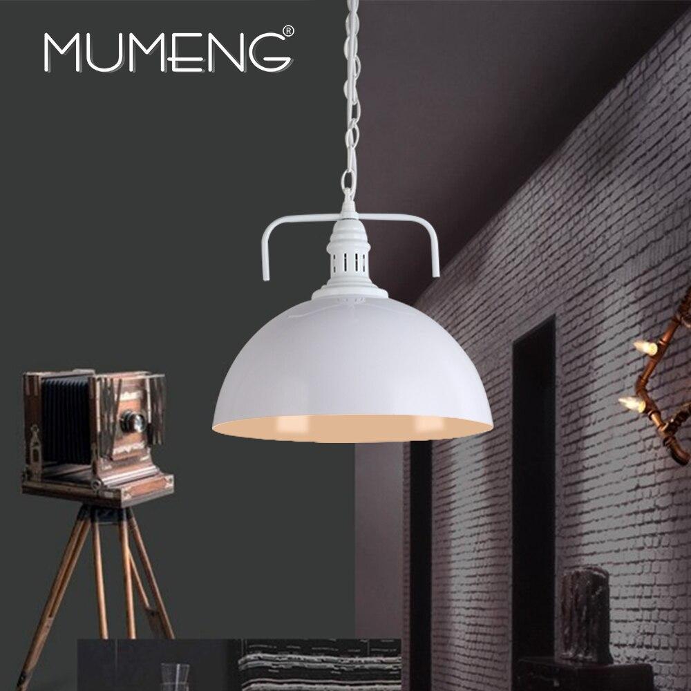 Mumeng Винтаж retroedison плафон абажур номер Спальня фойе кафе бар промышленности лампы металлические одной головы освещение белый
