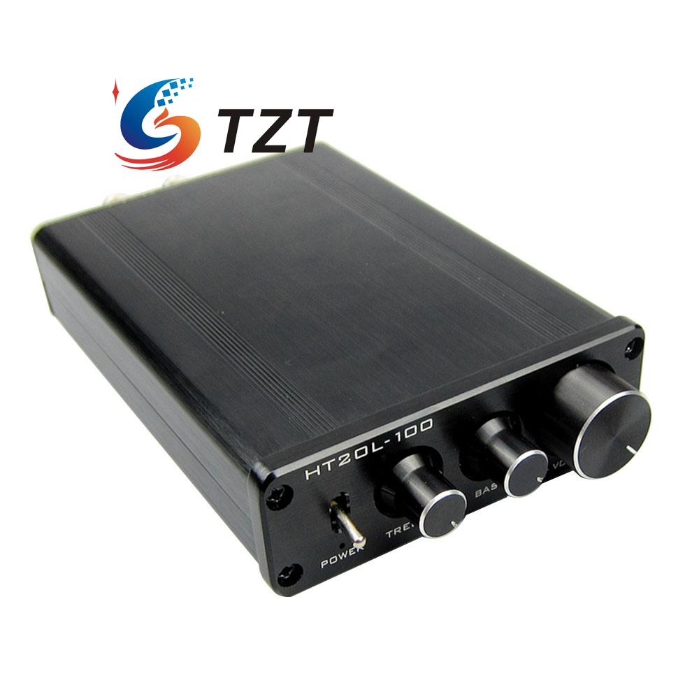HIFI Bluetooth Power Amplifier 2.0 Dual Channel 50W+50W Digital Audio AMP HT21L-100 music hall mini stereo digital power amplifier hifi 2 0 audio amp 50w 50w treble bass black with 24v power supply