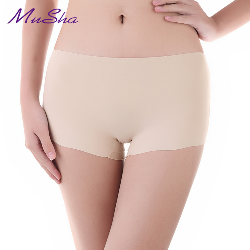 Hot Sale New Mid-Rise Sexy   Panties   For Women Underwear Seamless   Panties   Boyshort Ice Silk Material Safety   Panties   Plus Size Free
