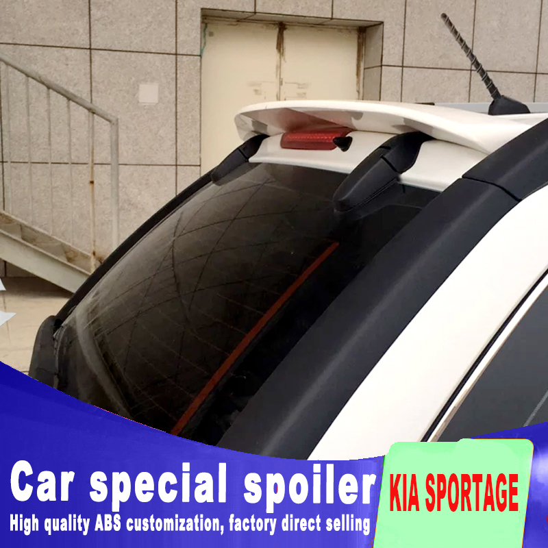 2007 2008 2009 2010 2011 for KIA sportage spoiler by big high quality rear window roof wings rear spoiler by primer sportage