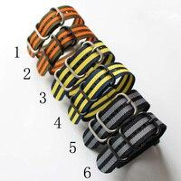 1PCS Heavy Duty Nylon Straps 20mm 22mm 24mm Nylon Watchband NATO Zulu Watch Strap Bracelet Ring