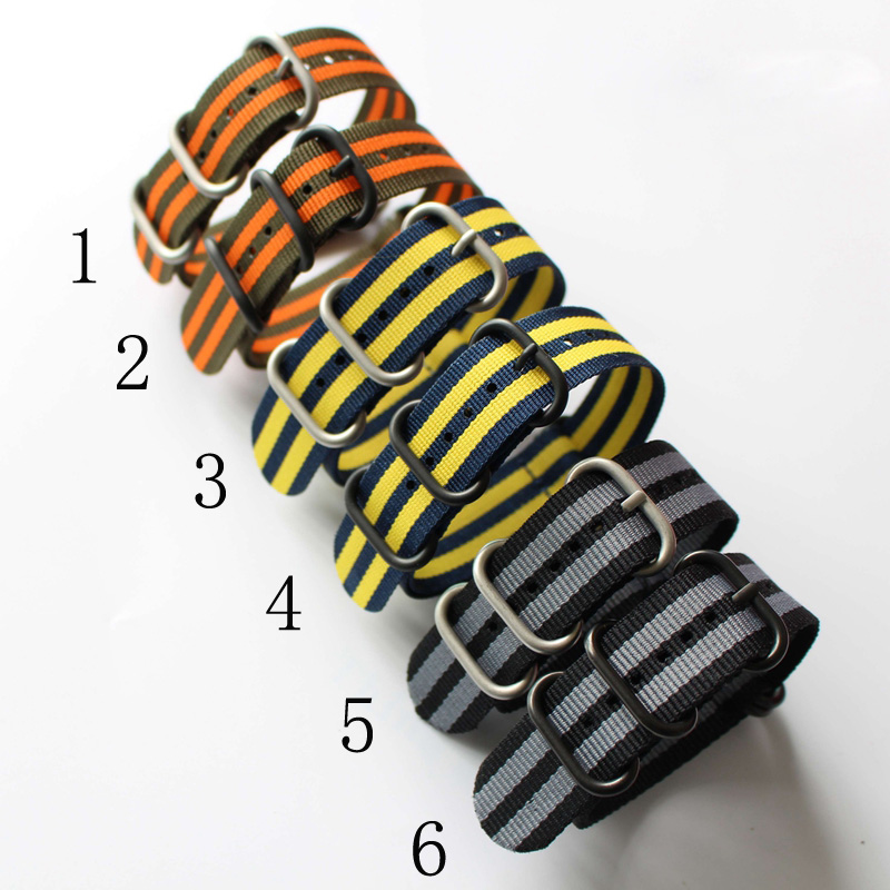 1PCS Heavy Duty Nylon Straps 20mm 22mm 24mm Nylon Watchband NATO Zulu Watch Strap Bracelet Ring buckle 6 Color Available na4910 heavy duty needle roller bearing entity needle bearing with inner ring 4524910 size 50 72 22