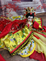 12 Collectible Chinese Ancient Costume Dolls Gorgeous MAZU Dolls With Realistic 3D Eyes Vintage BJD Girl Doll Christmas Gifts