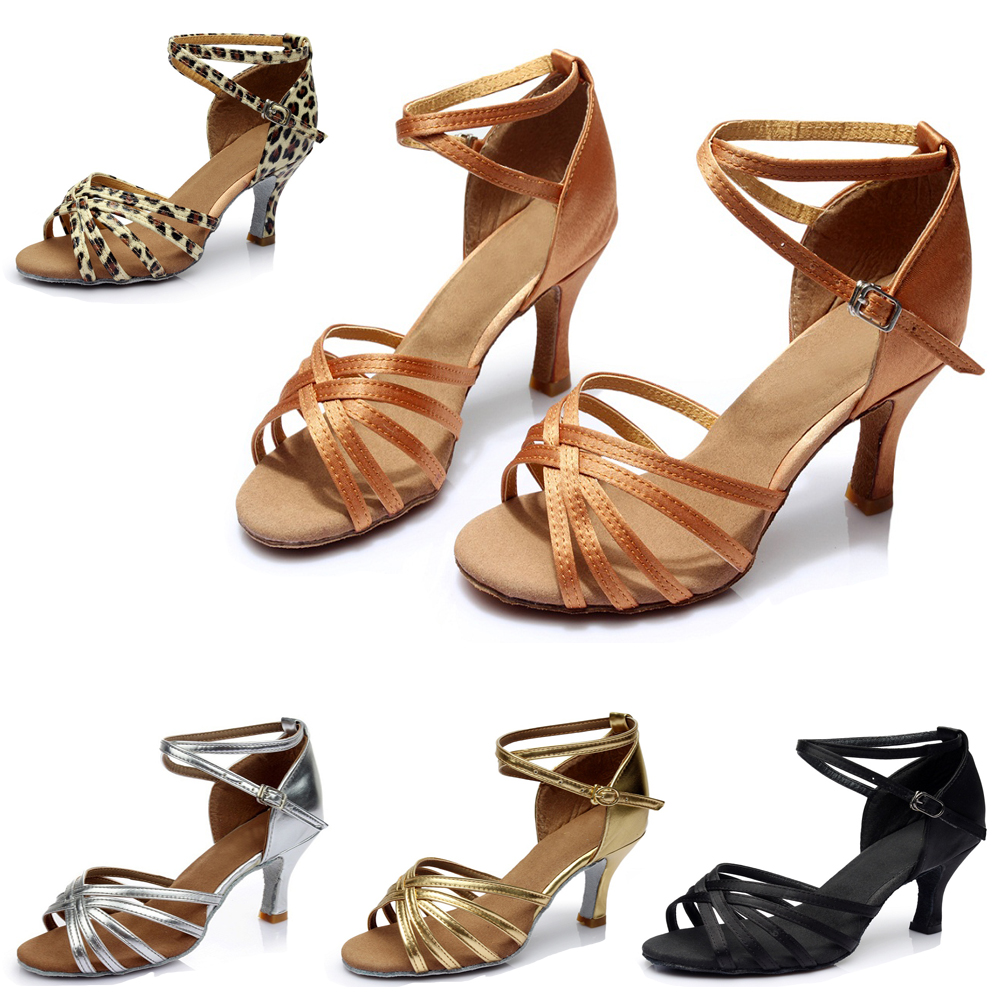 Woman Latin Shoes Latin Dance Shoes Salsa Ballroom Tango Dance Shoes Women Sneakers For Dancing High Heel A01G