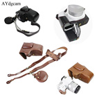 New Luxury Pu Leather Camera Video Case Bag Cover For Canon 200D Camera With Strap Battery Bag Open Battery Design