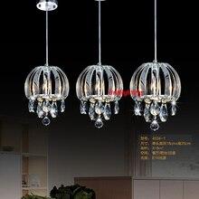 Crystal Pendant Light Chrome Suspension Luminaire Vintage Hanglamp modern Pendant Lamp Dining Room Hanging Lights Crystal
