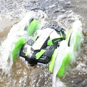 Image 2 - LH C013 2.4GHz التحكم عن بعد RC سيارة مقاوم للماء على الطرق الوعرة سباق تسلق RC سيارة برمائية 4WD التحكم عن بعد لعب RC سيارات