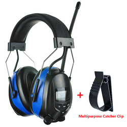 Earmuffs Proteção Auricular Bluetooth com Rádio AM FM e MP3 Compatível Com Protetor de Ouvido Fones De Ouvido de Redução de Ruído Eletrônico