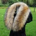 Осень и зима женская высокое качество искусственного енот меховой воротник лиса искусственного воротник глушитель шарф воротник vigoreux шапка