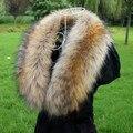 Outono e inverno de boa qualidade guaxinim pele de raposa colarinho falso colar falso cachecol gola cachecol vigoreux cap