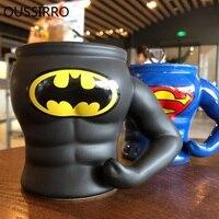 Avengers League Superman Batman 3D Armor Loricae Mugs Ceramics Coffee Milk Tea Cup Work Office Decorate Copo Cartoon Gift
