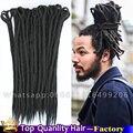 Сексуальный Черный ямайский Дреды Для Мужчин dreadlock прически для мужчин легкий и Нежный Updos для Аккредитивов Крючком волосы искусственного аккредитивов боится