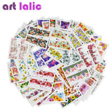 50 sheets Nail Art Water Transfer Mixed Design Sticker Watermark Decals DIY Decoration For Beauty Nail Tools Random Patterns M50