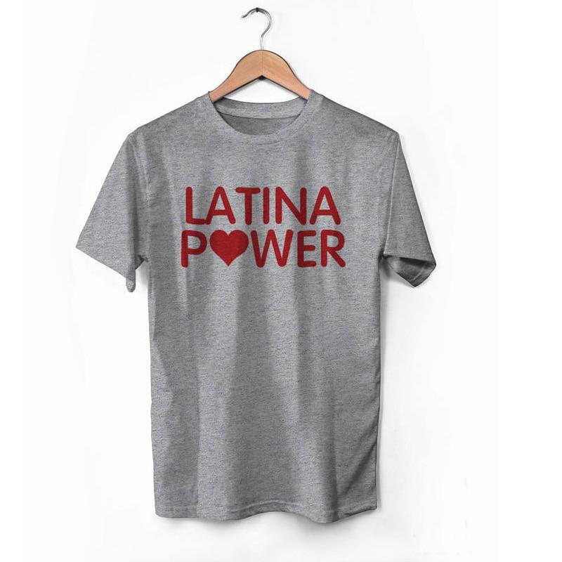 Vsenfo Latina Power T-Shirt Frauen Baumwolle Kurzarm Feminis T-Shirt Für Damen Mädchen Power Wome/'S T-Shirt Sommer Crewneck Tops