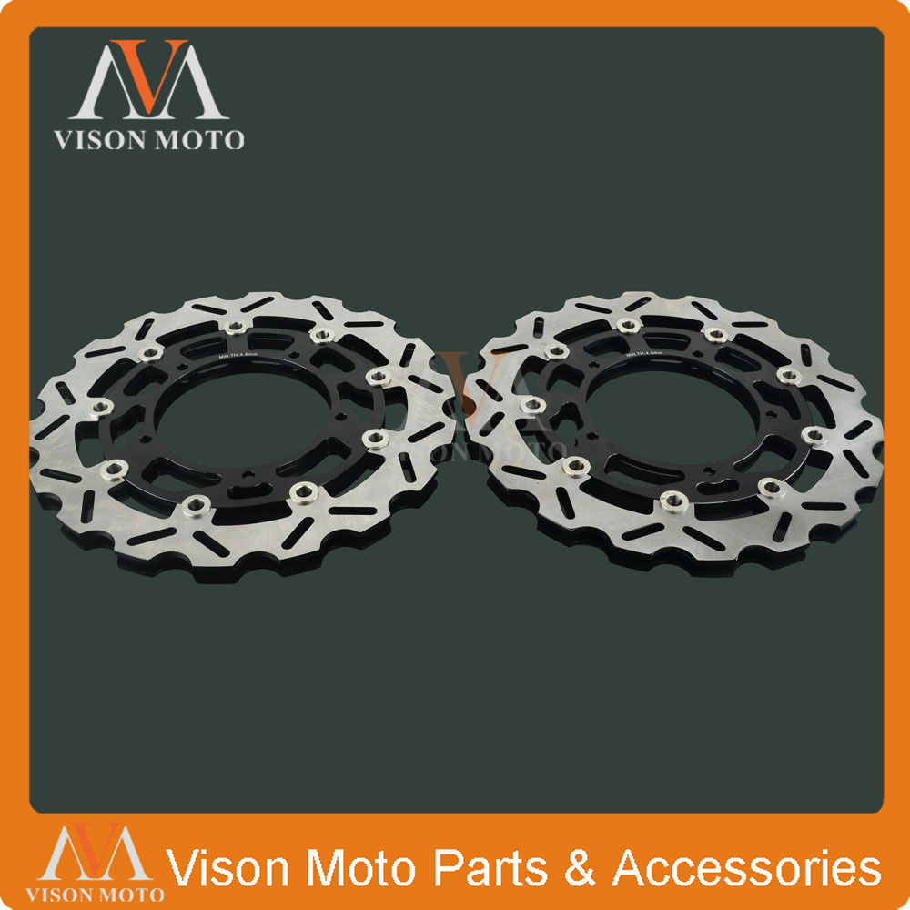 2PCS Front Floating Brake Disc Rotor For YAMAHA FZ1 F1ZS FZ1-S 2006 2007 2008 2009 2010 2011 2012 2013 YZF R1 YZF-R1 YZFR1 04-06 abs chrome front grille around trim for ford s max smax 2007 2010 2011 2012