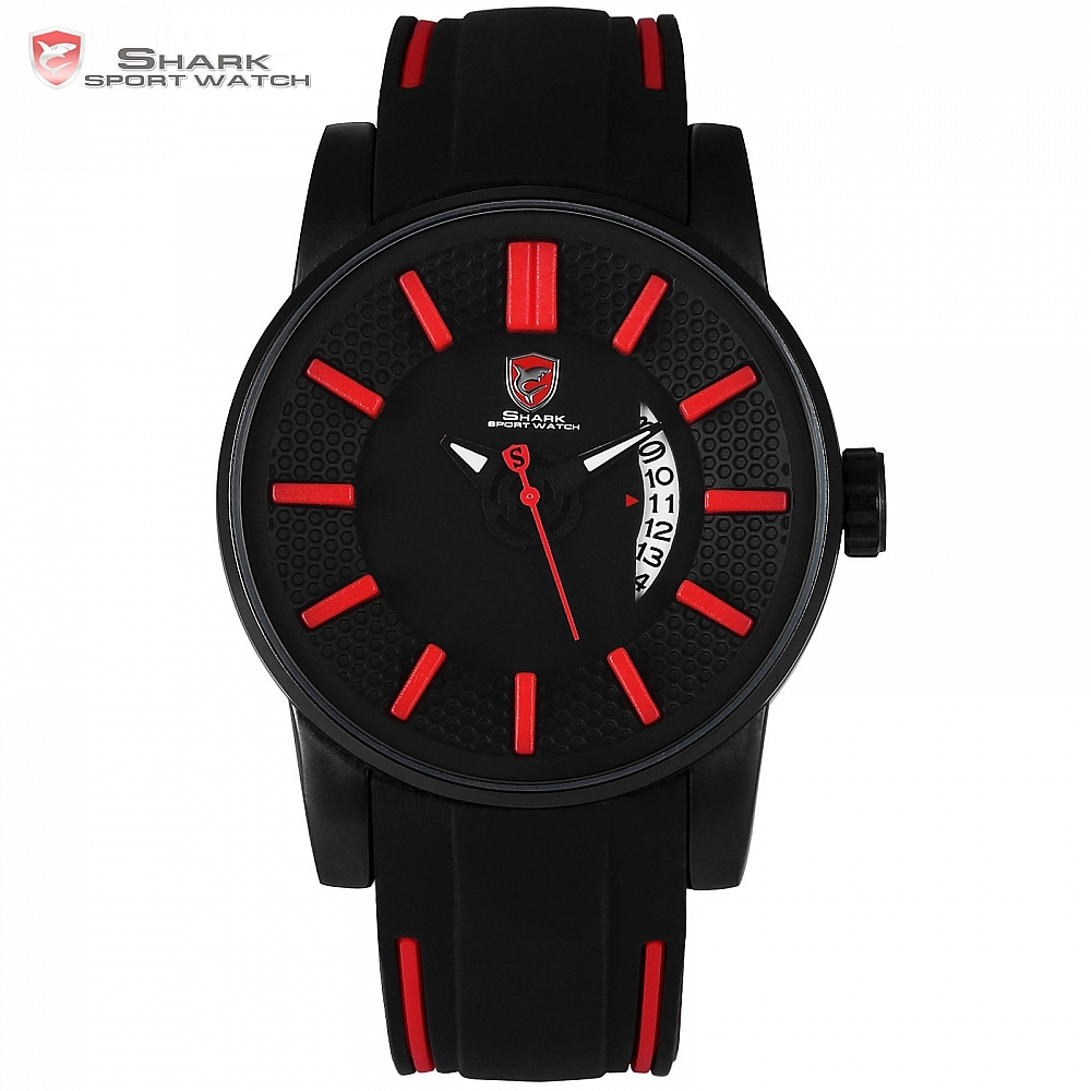 Grey Reef Shark Sport Watch Red 3D Special Design Date Silicone Strap Quartz Watches Men Waterproof Relogio Masculino Gift/SH478Grey Reef Shark Sport Watch Red 3D Special Design Date Silicone Strap Quartz Watches Men Waterproof Relogio Masculino Gift/SH478