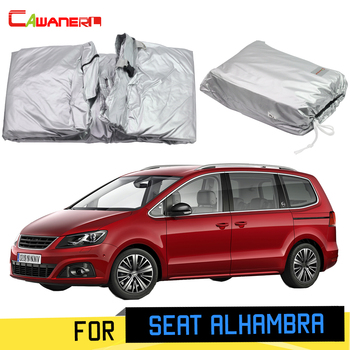 Cawanerl For Seat Alhambra 2011-2019 Full Car Cover MPV Sun Anti-UV Rain Snow Scratch Protection Cover With Anti-Theft Lock