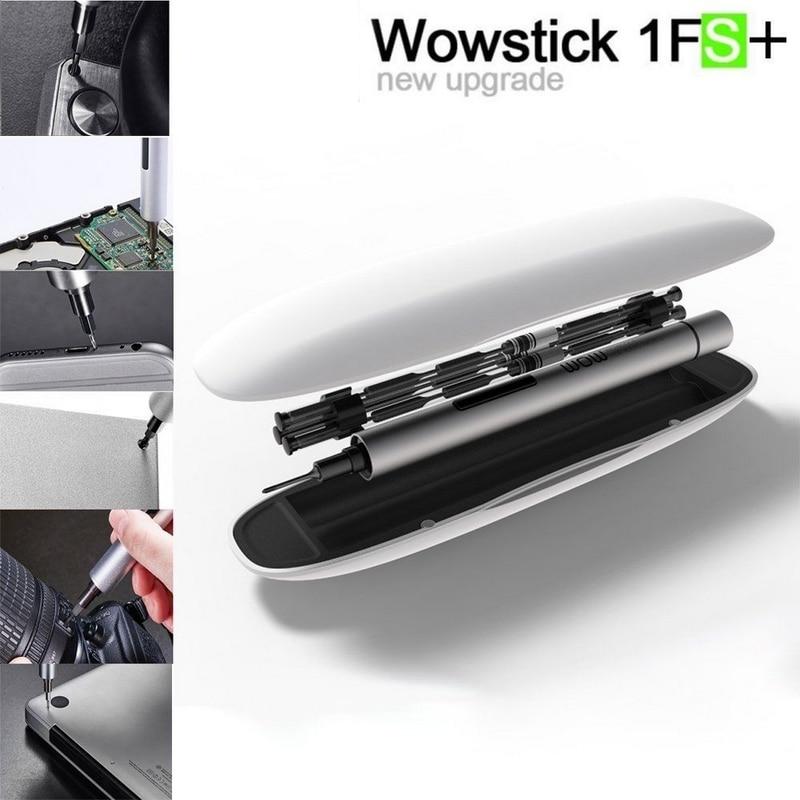 Nouvelle offre spéciale Wowstick 1 P 1F Pro Électrique Kit de Tournevis 56 pièces Ensemble Magnétiseur Mini Précision Électrique Sans Fil Tournevis Kit