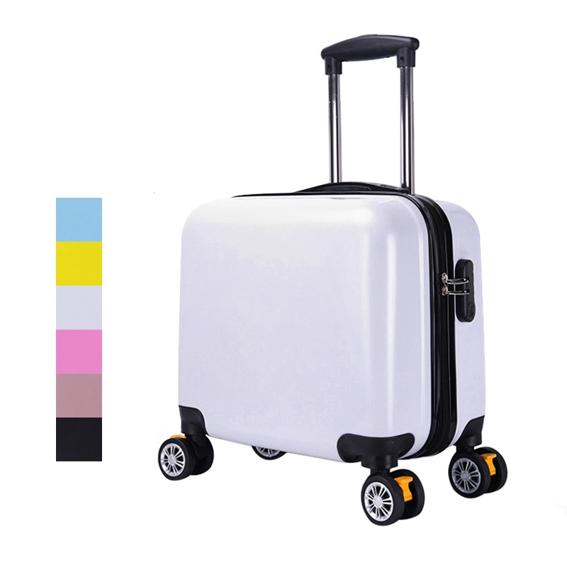 ABS Travel Suitcase Carry on Luggage Trolley Spinner Luggage Fashion Travel Luggage Bgs Rolling Suitcase 18 цены онлайн