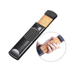 Pocket Guitar Portable for Acoustic Guitar Practice Tool Gadget Chord Trainer 6 String 4 Fret Model for Beginner Finger training
