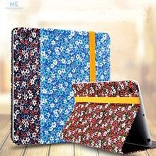 High Quality Flip PU leather Cases For Apple IPad Mini 1 2 3 Case Colourful Flowers Tablet Stand Smart Cover for iPad mini 3 2 1