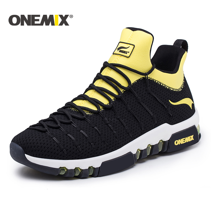 Onemix 2018 new running shoes for men hight sneakers outdoor trekking for women breathable sneakers walking running shoes men onemix new running shoes men outdoor walking boots couple high top sneakers multifunction trekking sneaker women free shipping