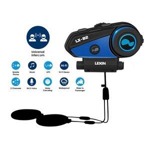 Image 4 - Newest Lexin B2 Motorcycle Bluetooth Helmet Headsets Intercom BT Wireless Interphone intercomunicador bluetooth para motocicleta