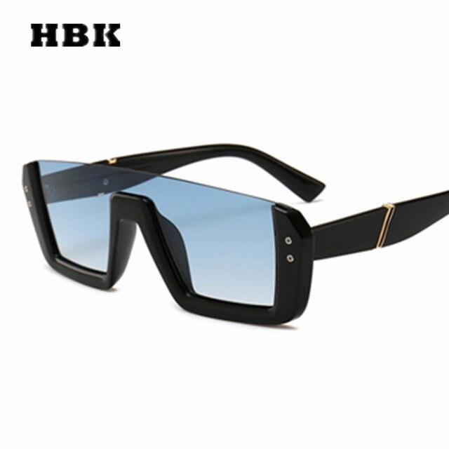 dfefb35ce1a9d HBK Unisex Square Sunglasses Big Frame Vintage Women Men Brand Designer 2019  New Fashion Sun Glasses Steampunk Gradient UV400
