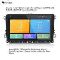 Android 6,0 автомобильный радиоприемник стерео 9 дюймов емкостный Сенсорный экран Высокое разрешение gps навигации Bluetooth USB плеер 1 г DDR3 + 16 г