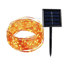 Solar Panel Powered LED Kupfer Draht Stachel Lichter 8 Modi 5 M 10 M 20 M Bunte Solar Lampe Wasserdicht IP44 Garten Party Decor Licht