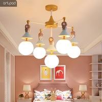 Современный детский потолочный светильник для стеклянный, для спальни абажур E27 светодиодный светильник принцессы для девочек и мальчиков