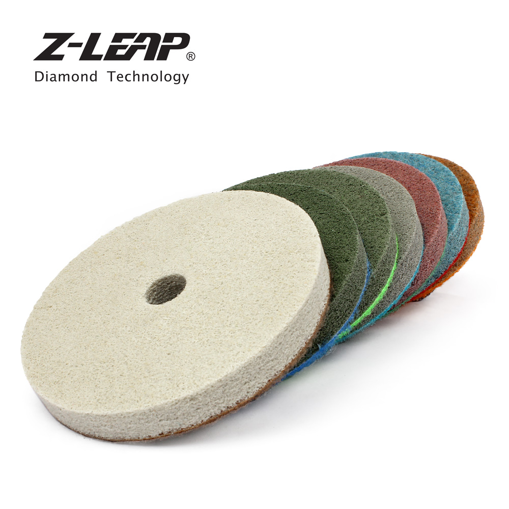 Z-LEAP Diamond Sponges 7pcs 4 Inch For Marble Polishing Abrasives Artificial Stone Polishing Wheels Buff Disk Thickness 10mm