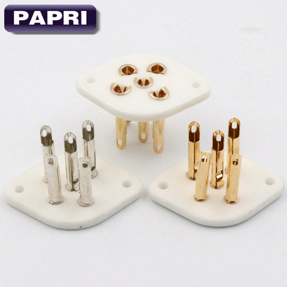 Papri 1 Stücke 5pin Keramik O5a Rohr Buchse Gold Überzogen Für Px4 Px5 1701 Px25 Pa40 Re134 Re144 Ren804 QualitäT Zuerst