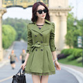 2016 New Spring & Autumn  long section womens lace trench coat women trench coat trench plus size for women