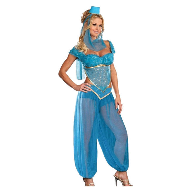 Sexy Gottin Prinzessin Jasmin Kostum Erwachsene Frauen Karneval