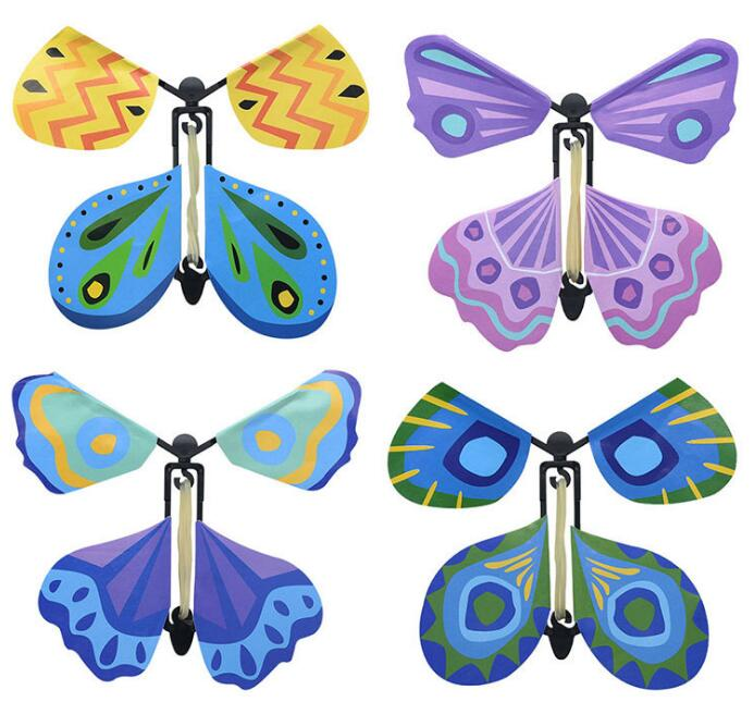 Vente en gros 100 pièces lot magie papillon volant des mains vides liberté papillon tours de magie mentalisme magie bébé jouet accessoires de magie - 3
