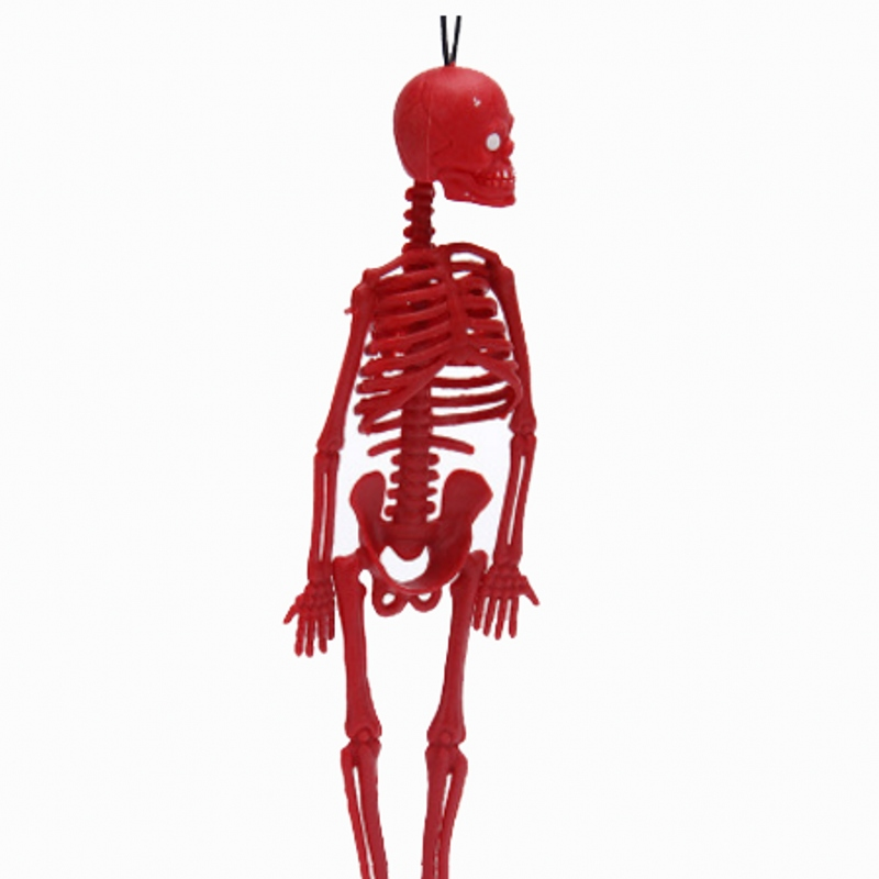 10pc Funny Halloween Toy Length 20cm Realistic Human Skeleton Mold The Kids Mischief Toys Scary Jokes Toy