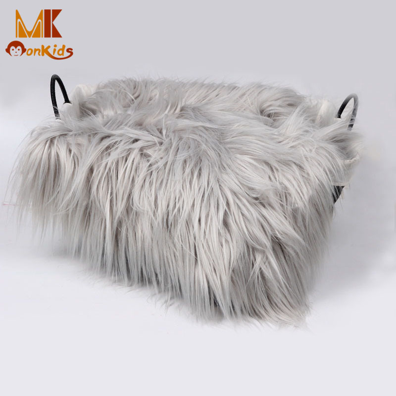 Monkids 2016 Baby Swaddle Blanket Faux Fur Soft Handle