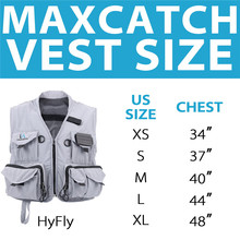 Maximumcatch Fly Fishing Vest Outdoor Sleeveless Multi-pocket Light For Fly Fishing Size M/L Fly Fishing Wader