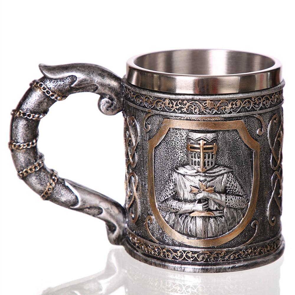 Chope de bière – Chevalier du Moyen-Âge