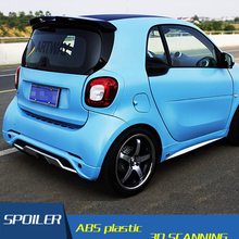 Для Smart fortwo 453 спойлер Carlsson ABS Материал заднее крыло праймер цвет задний спойлер на крышу для Benz Smart fortwo спойлер