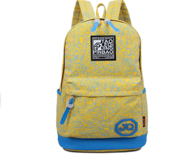 2017 New canvas schoolbags casual female backpacks children school bags 4 color popular mixed colors backpack with Soft strap