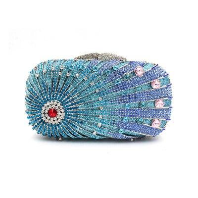 Crystal diamond Women rainbow Clutches Handbag female Metal Evening Bags Minaudiere Ladies Party Business clutch Purse gold цена